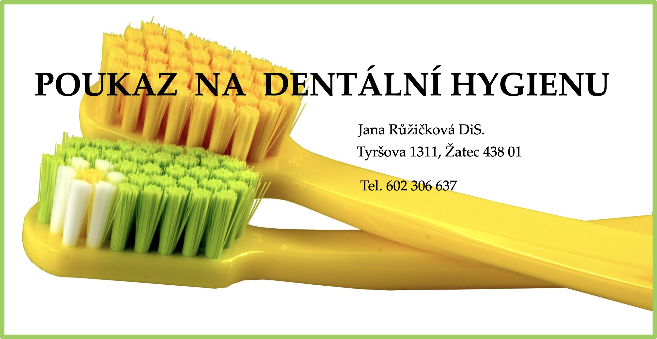 Dárkový poukaz na dentální hygienu 2